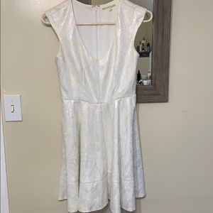 White and silver shimmer Gianni Bini dress